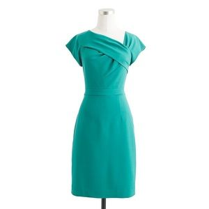 Euc J. Crew green wool origami sheath dress 4